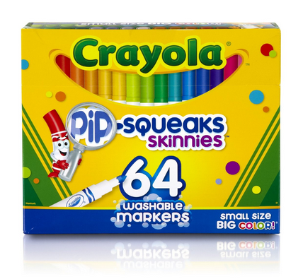 Crayola 64 Count Pip-Squeaks Skinnies Markers Only $7.99! (43% Off!)