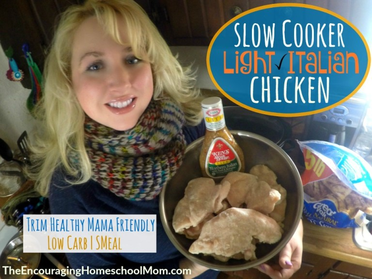 Slow Cooker Light Italian Chicken
