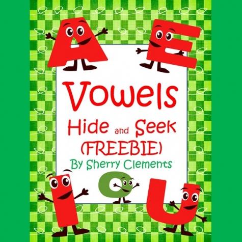 Free Vowels Hide & Seek Printables