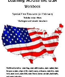 Learning Across the USA President's Day Freebie
