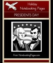 Free President's Day Notebooking Pages