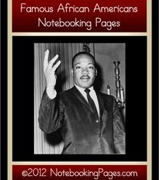Free Famous African American Notebooking Pages