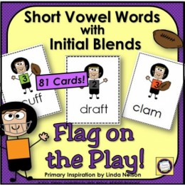 Flag on the Play! Short Vowel Words with Initial Consonant Blends GAME