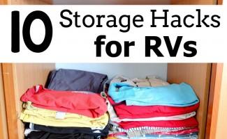 10 Storage Hacks for RVs - Roadschooling series at Free Homeschool Deals!