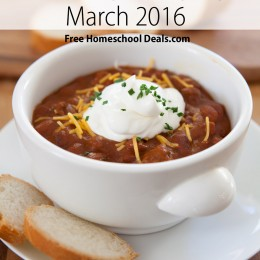 Free Easy Dinner Menu Plan with Recipe Links! {March 2016}