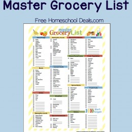 Free Printable Master Grocery List (instant download!)