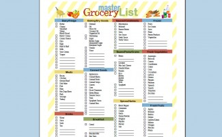 Free Printable Master Grocery List