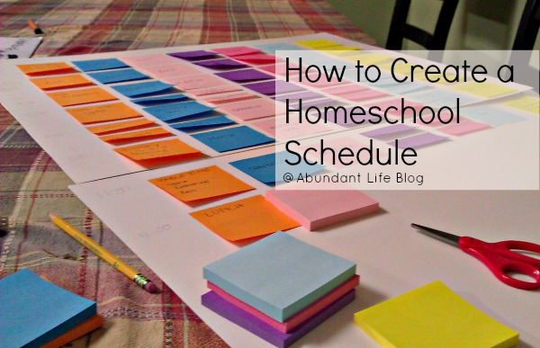 How to Create a Homeschool Schedule