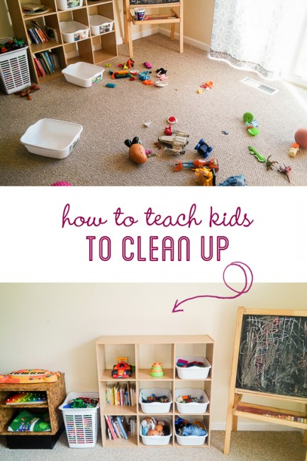 How to Teach Kids to Clean Up