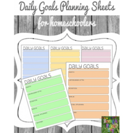 FREE Homeschool Daily Goals Planning Sheets!