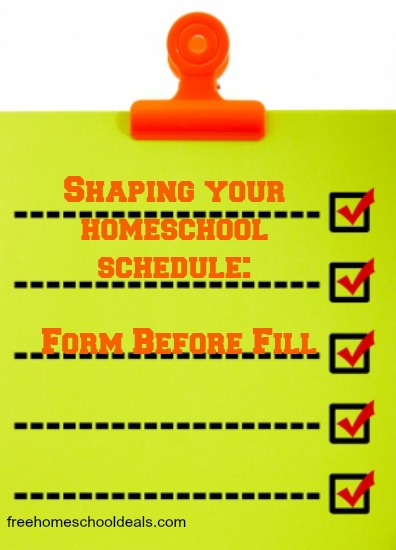 Shaping Your Homeschool Schedule
