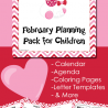 FREE February Planning Pack for Children