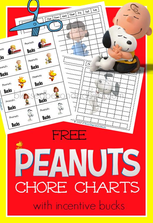 FREE Peanuts Chore Chart