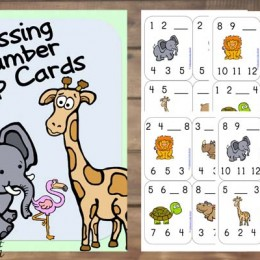 FREE Missing Number Clip Cards