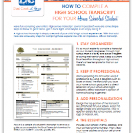 FREE High School Transcript Guide and Template
