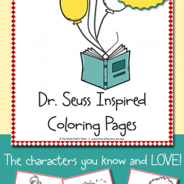 FREE Dr. Seuss Inspired Coloring Pages