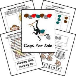 FREE Caps for Sale Lapbook