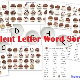 FREE Silent Letter Worksheets and Word Sort Activity – Chocolate Theme!