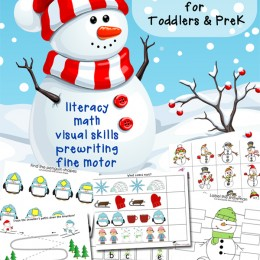 FREE Winter Learning Pack for Toddlers and PreK