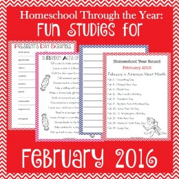 FREE February Holiday Themed Printables Pack
