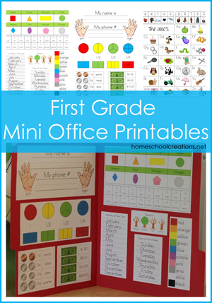 FREE First Grade Office Printable
