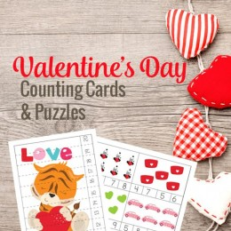 FREE Valentine's Day Counting Cards and Puzzles