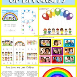 FREE God's Rainbow of Diversity Pack