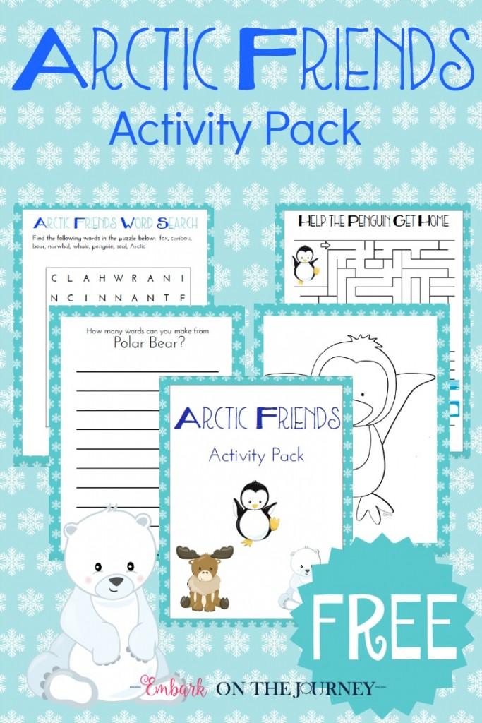 FREE Arctic Animals Activity Pack | Free Homeschool Deals ©