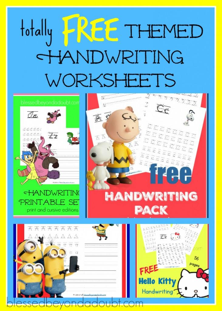 free variety packs of themes handwriting worksheets free homeschool deals. Black Bedroom Furniture Sets. Home Design Ideas