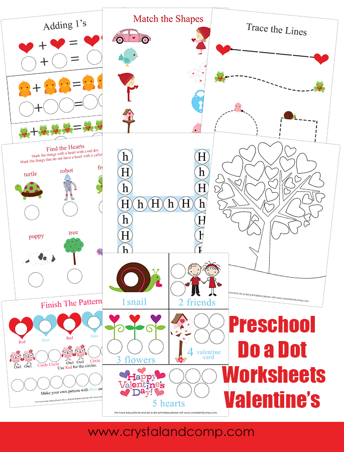 FREE Preschool Valentines Pack