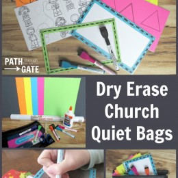 FREE Dry Erase Church Quiet Time Bag Printables