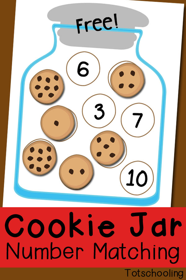 FREE Cookie Jar Number Matching Printables and Game | Free ...