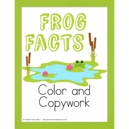 FREE Frog Facts Color and Copywork!