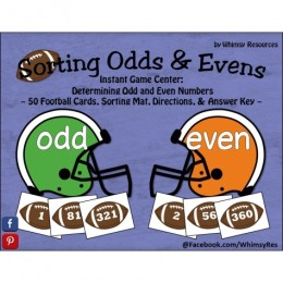 Football Themed Freebie: Sorting Odd Even Math Game