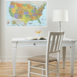 Peel & Stick Dry Erase Maps Under $10! (Reg. $30!)
