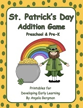 Free St. Patrick's Day Addition Game