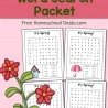 Spring Word Search Packet