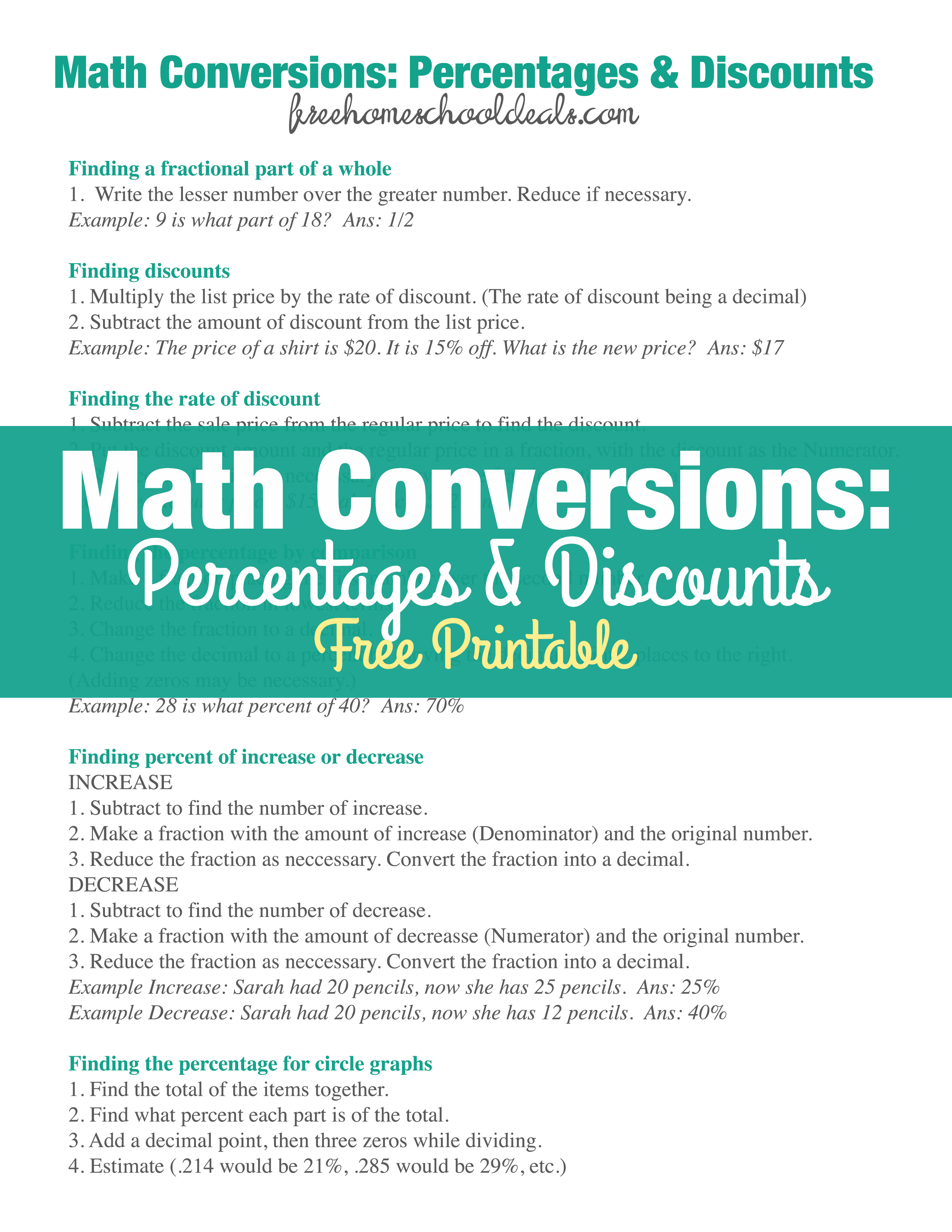 How to Homeschool for Free and Frugal: Elementary Math Printables ...