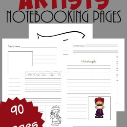 FREE Artists Notebooking Pages