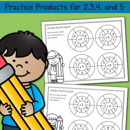 FREE Simple Multiplication Wheel Math Worksheets