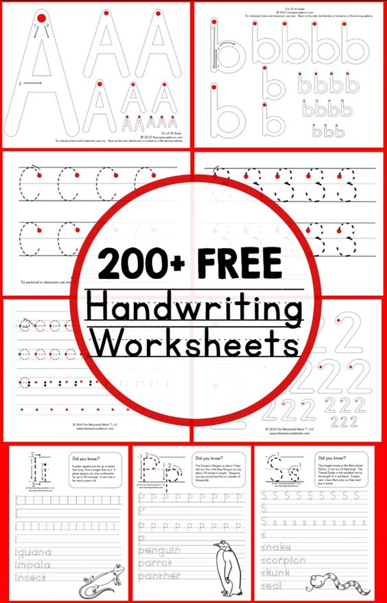 200+ FREE Handwriting Worksheets | Free Homeschool Deals ©