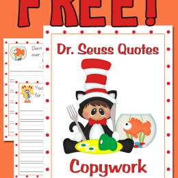 FREE Dr. Seuss Copywork Pages