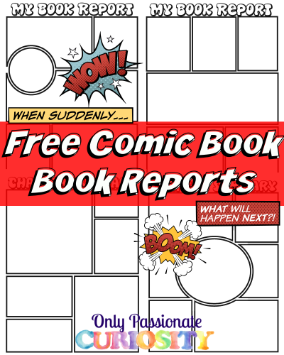 Comic strip book report directions book report alternative comic a characters letter to the editor reheart Images
