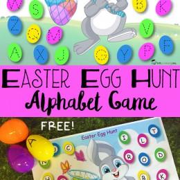 FREE Easter Egg Hunt Alphabet Game