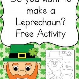 FREE Build a Leprechaun Printables