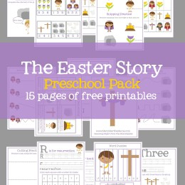 FREE The Easter Story PreK Pack