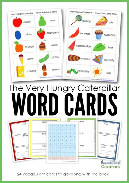 Free Very Hungry Caterpillar Word Cards Free Homeschool