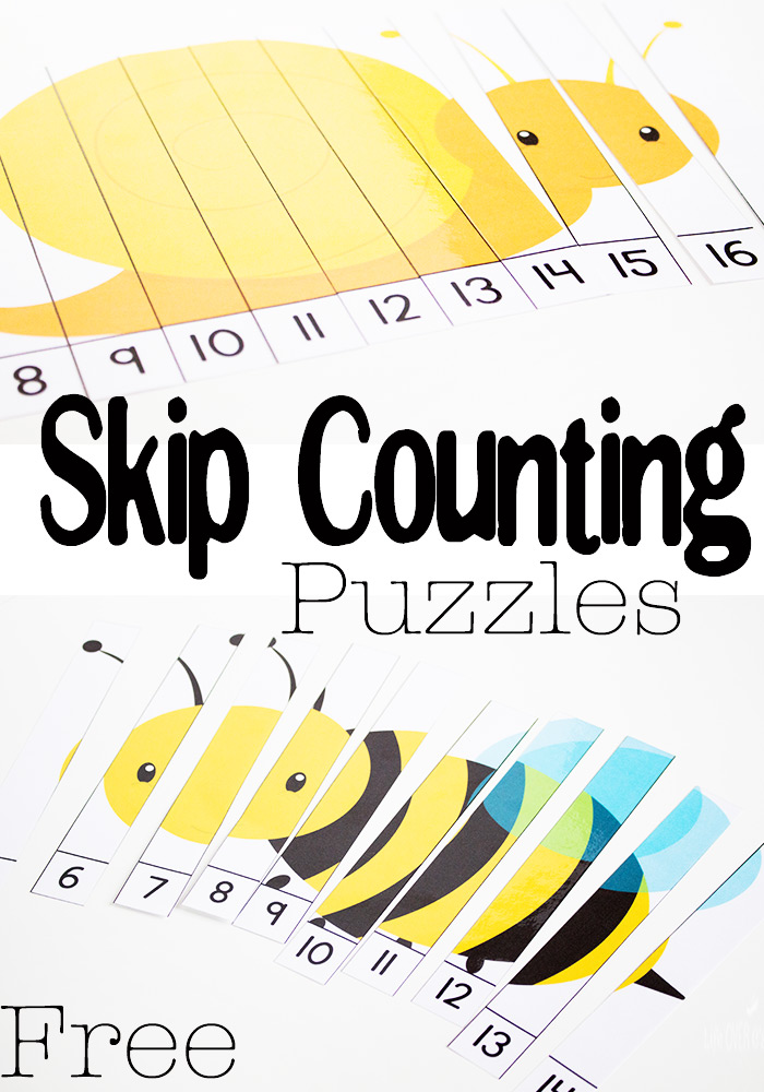 free skip counting spring bug puzzles free homeschool deals. Black Bedroom Furniture Sets. Home Design Ideas