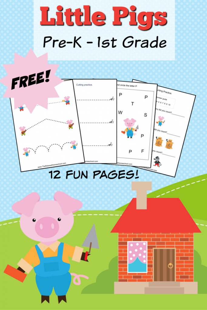 Free Three Little Pigs Prek 1 Pack Free Homeschool Deals