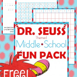 FREE Middle School Dr. Seuss Pack